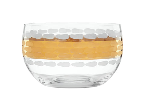 GOLD GLASS LARGE BOWL