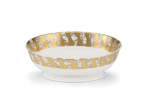 GOLD OVAL SERVING BOWLS