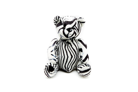 JUMA PATTERNED TEDDY BEAR - ZEBRA