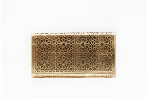 LALLA ALIA CLUTCH - GOLD