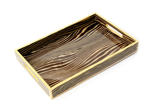 LIGHT LACQUERED WOOD TRAY