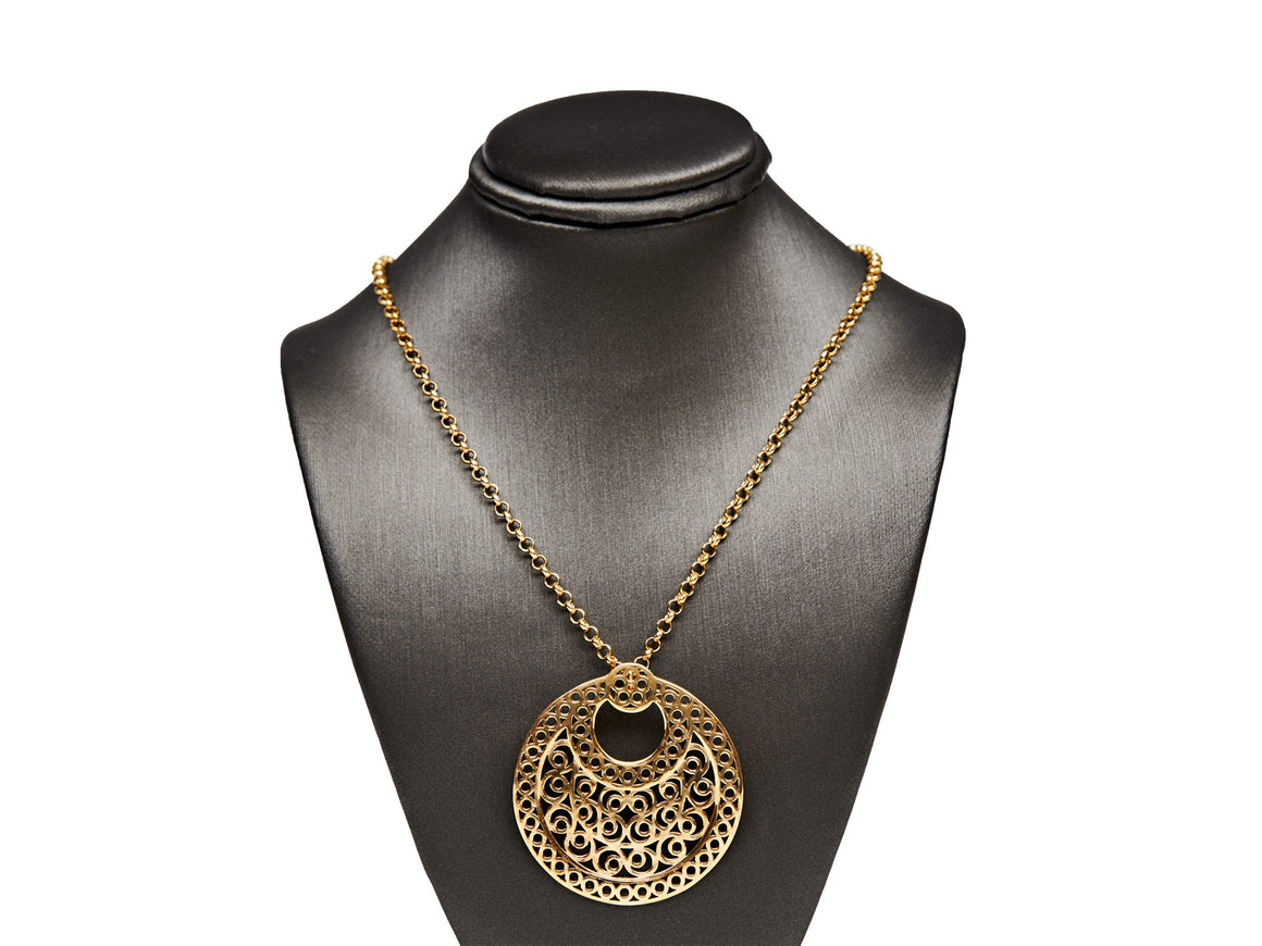 NADIA DAJANI CRESCENT PENDANT NECKLACE