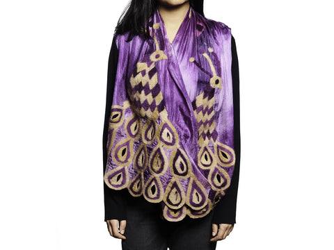 SILK ROAD BAZAAR PEACOCK SCARF