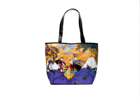 SHAHNAMEH COURT LIFE TOTE