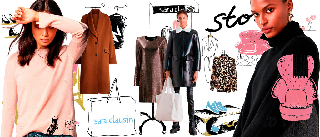 Fashion illustration of Sara Clausin shop