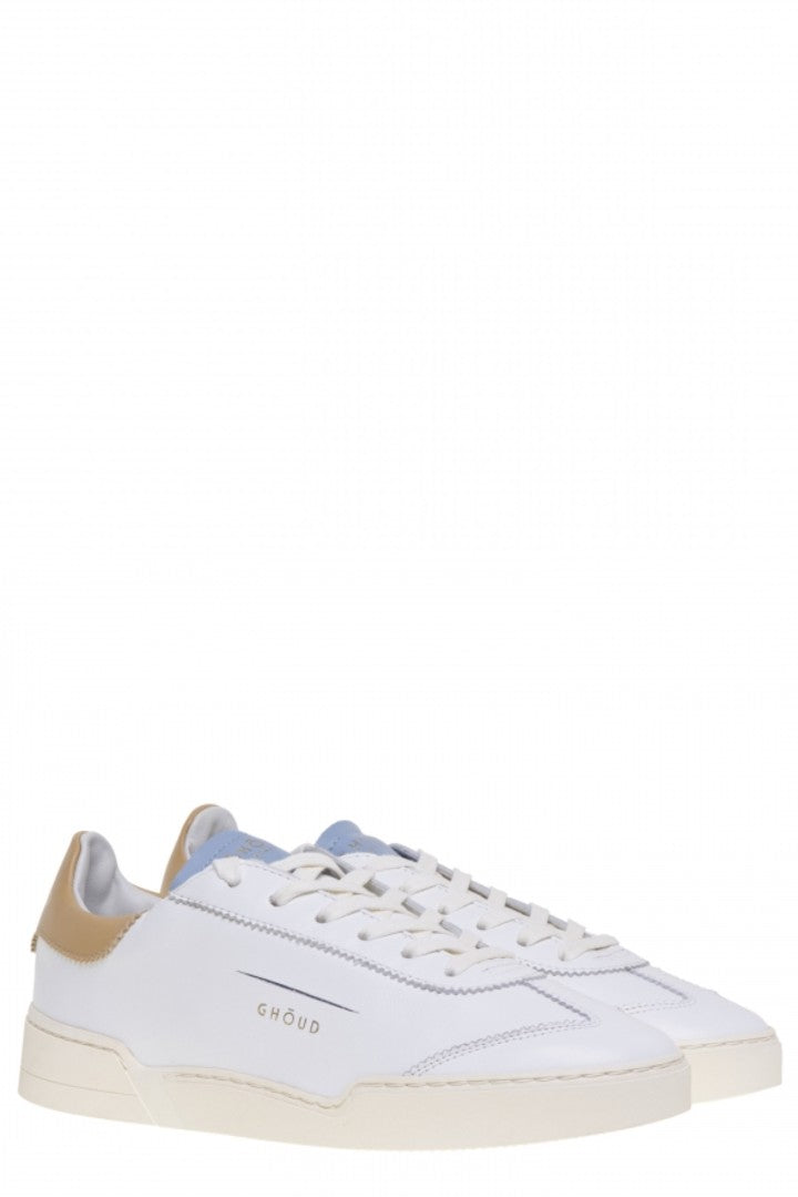 GHOUD LOB 01 LOW WOM - LEATHER  WHITE BEIGE SKY BLUE