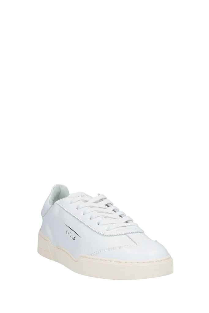 GHOUD LOB 01 LOW WOM - LEATHER WHITE