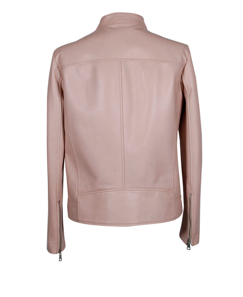 ANTONELLI Hibiscus Leather Jacket - saraclausin