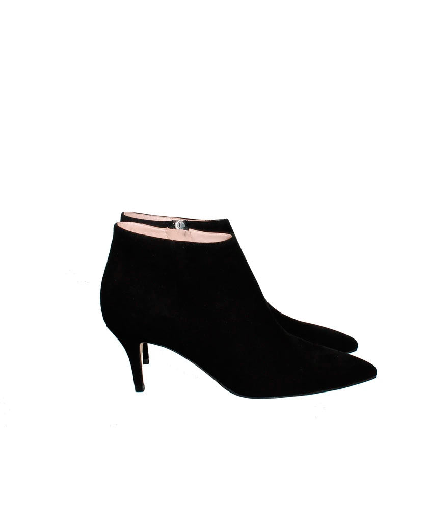 A PAIR  Tosca 4 Black Suede Stiletto Bootie - saraclausin