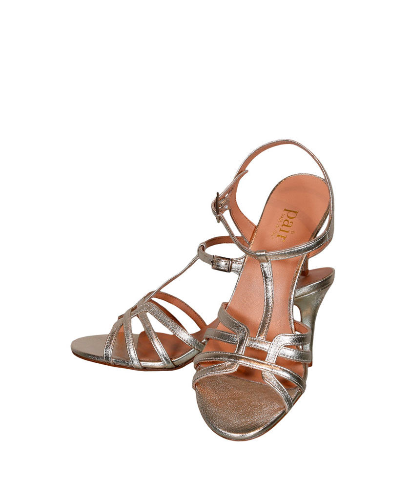 A PAIR  All Night Gold Sandal - saraclausin