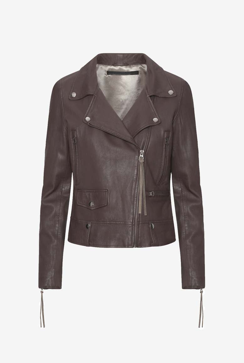 MDK Seattle Thin Leather Jacket Chestnut