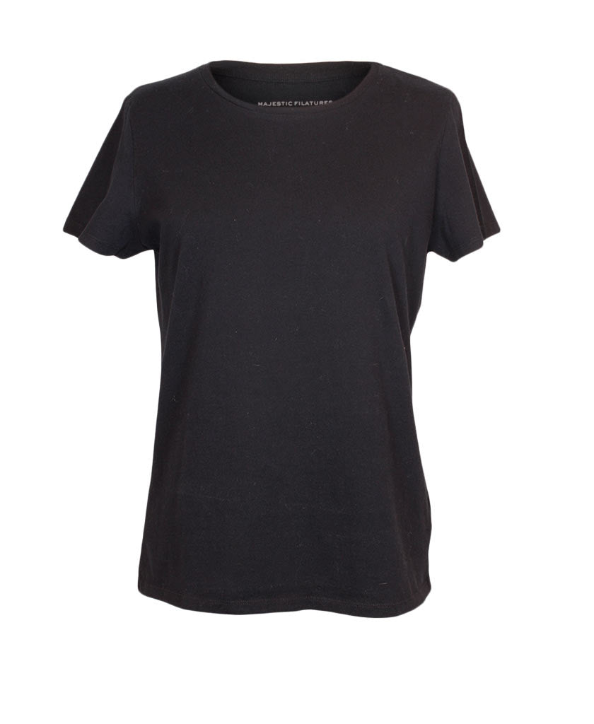 MAJESTIC Silk Touch Cotton O-Neck T-Shirt - saraclausin