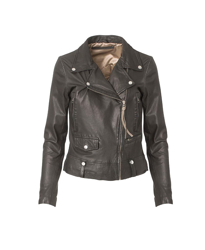 MDK Seattle Thin Leather Jacket - saraclausin