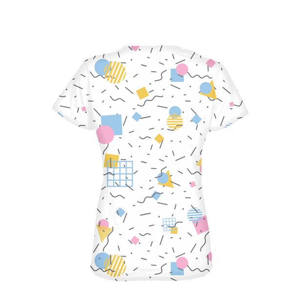 Splash That Geo: Baby Talk Ladies All-Over Tee | G.O.A.T. GRAPHICS