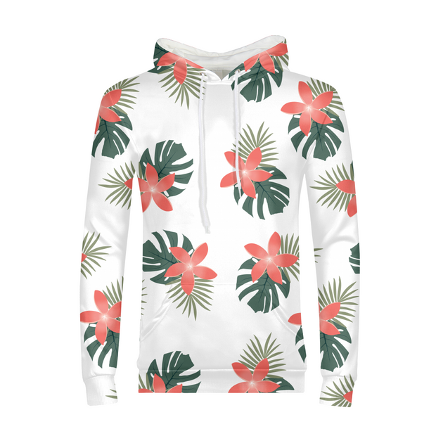 Aloha Breeze Mens White All-Over Hoodie | G.O.A.T. GRAPHICS