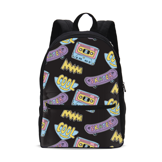 Cool Skater Pattern Backpack | G.O.A.T. GRAPHICS