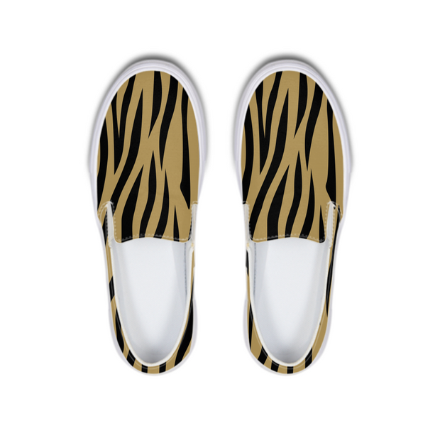 Gold Zebra Print Boat Shoes | G.O.A.T. GRAPHICS