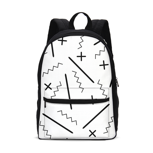 B&W ZigZags Small Backpack | G.O.A.T. GRAPHICS
