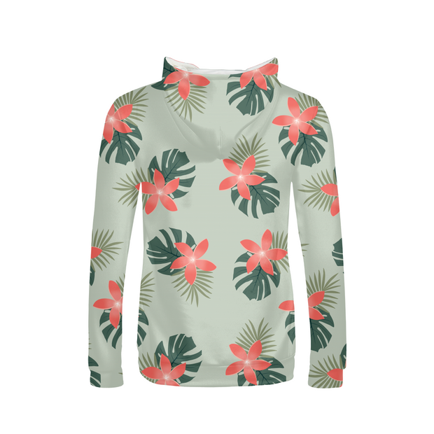 Aloha Breeze Ladies Green All-Over Hoodie | G.O.A.T. GRAPHICS