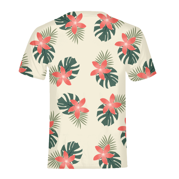 Aloha Breeze Mens Cream All-Over Tee | G.O.A.T. GRAPHICS