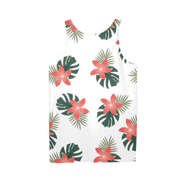 Aloha Breeze Mens White All-Over Tank | G.O.A.T. GRAPHICS