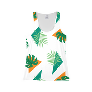 Party Officer Ladies White All-Over Tank | G.O.A.T. GRAPHICS