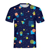 Splash That Geo: Ocean Reef Mens All-Over Tee | G.O.A.T. GRAPHICS