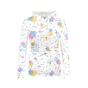 Splash That Geo: Baby Talk Ladies All-Over Hoodie | G.O.A.T. GRAPHICS