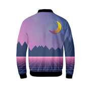 Digital 80s Sunset Mens Bomber Jacket | G.O.A.T. GRAPHICS