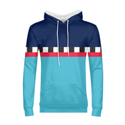 Hit the Slopes: Blue Horizon Mens All-Over Hoodie | G.O.A.T. GRAPHICS