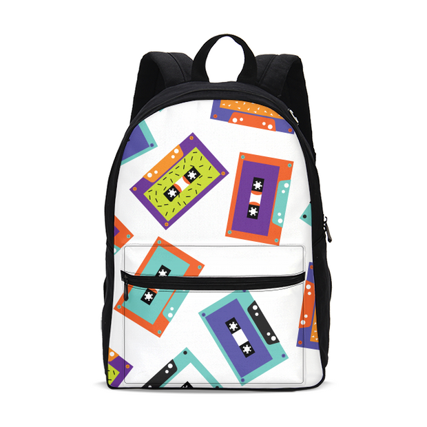 Cassette Tapes Pattern Small Backpack | G.O.A.T. GRAPHICS