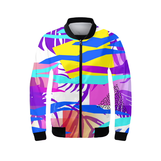 Tropical Vibes Ladies Bomber Jacket | G.O.A.T. GRAPHICS