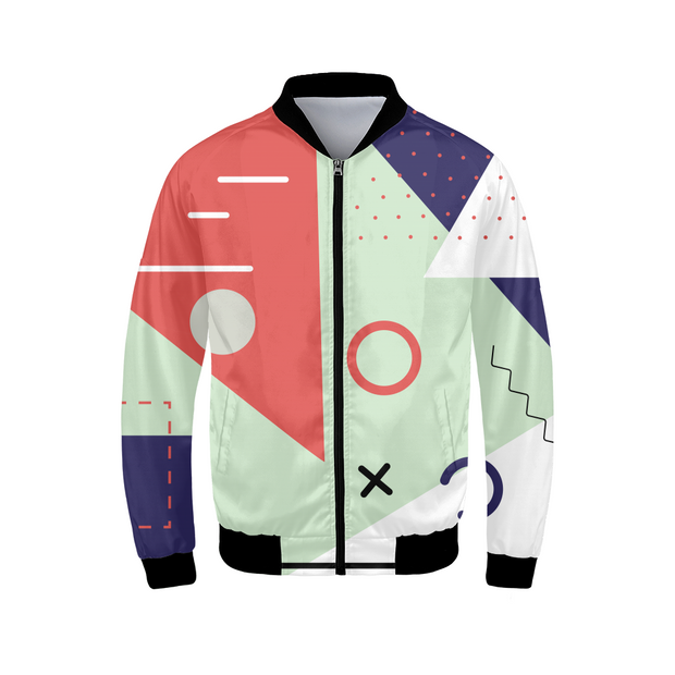 X's & O's Mens Bomber Jacket | G.O.A.T. GRAPHICS