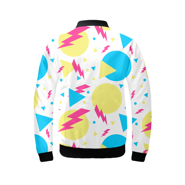 Shape Confetti Ladies Bomber Jacket | G.O.A.T. GRAPHICS
