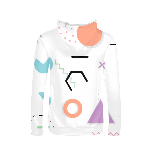 Neon Shapes Ladies All-Over Hoodie | G.O.A.T. GRAPHICS