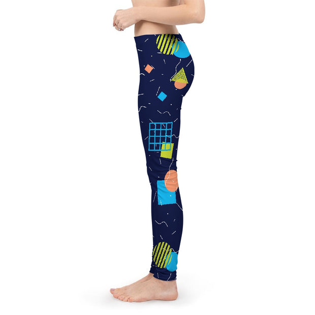 Splash That Geo: Ocean Reef Womens Leggings | G.O.A.T. GRAPHICS