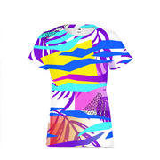 Tropical Vibes Ladies All-Over Tee | G.O.A.T. GRAPHICS