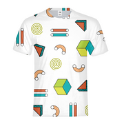 Abstract Shapes Pattern Mens All-Over Tee | G.O.A.T. GRAPHICS