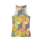 Abstract Cubes Ladies All-Over Tank | G.O.A.T. GRAPHICS