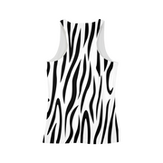 Zebra Stripes Ladies All-Over Tank | G.O.A.T. GRAPHICS