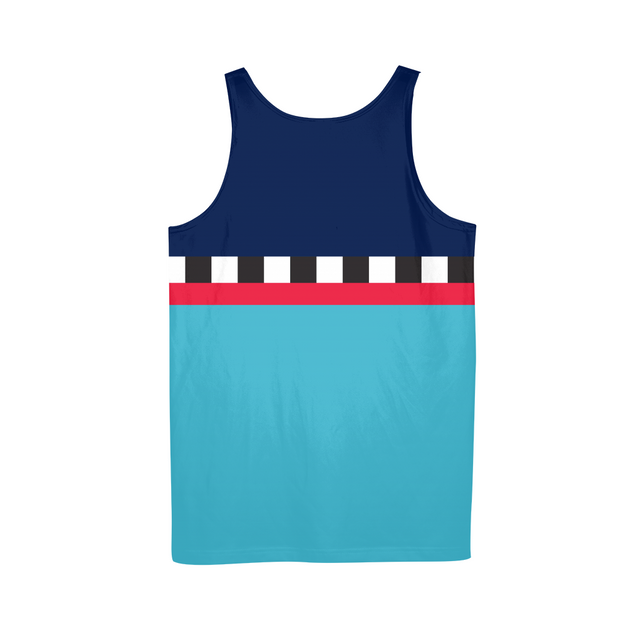 Hit the Slopes: Blue Horizon Mens All-Over Tank | G.O.A.T. GRAPHICS