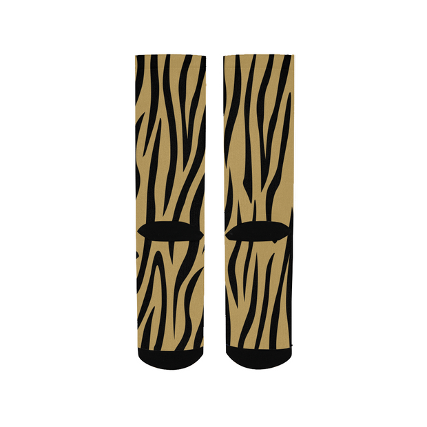 Gold Zebra Stripes Socks | G.O.A.T. GRAPHICS