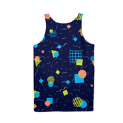Splash That Geo: Ocean Reef Mens All-Over Tank | G.O.A.T. GRAPHICS
