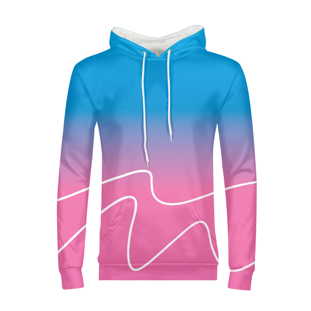 Totally Miami: Wave Mens All-Over Hoodie | G.O.A.T. GRAPHICS