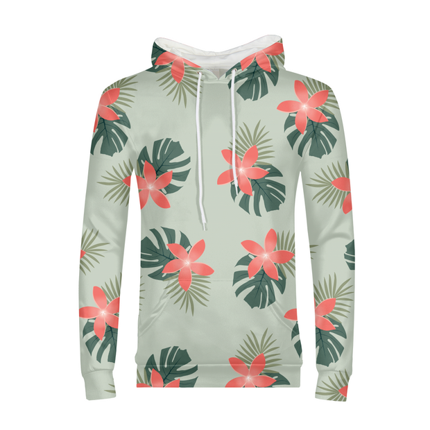 Aloha Breeze Mens Green All-Over Hoodie | G.O.A.T. GRAPHICS