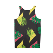 Party Officer Mens Black All-Over Tank | G.O.A.T. GRAPHICS