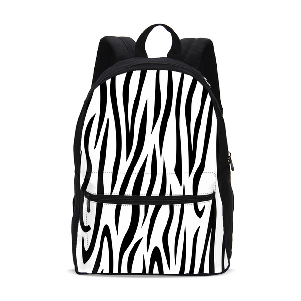 Zebra Stripes Small Backpack | G.O.A.T. GRAPHICS