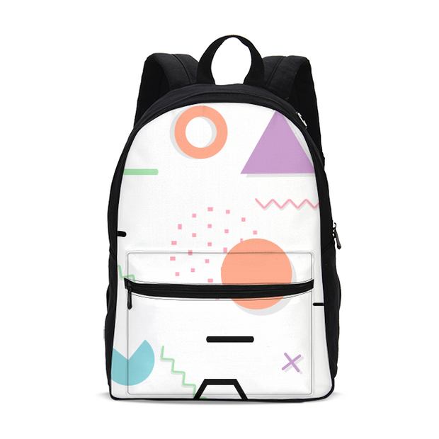 Neon Shapes Small Backpack | G.O.A.T. GRAPHICS