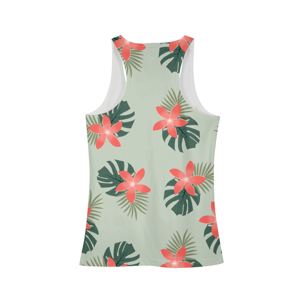 Aloha Breeze Ladies Green All-Over Tank | G.O.A.T. GRAPHICS