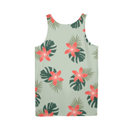 Aloha Breeze Mens Green All-Over Tank | G.O.A.T. GRAPHICS